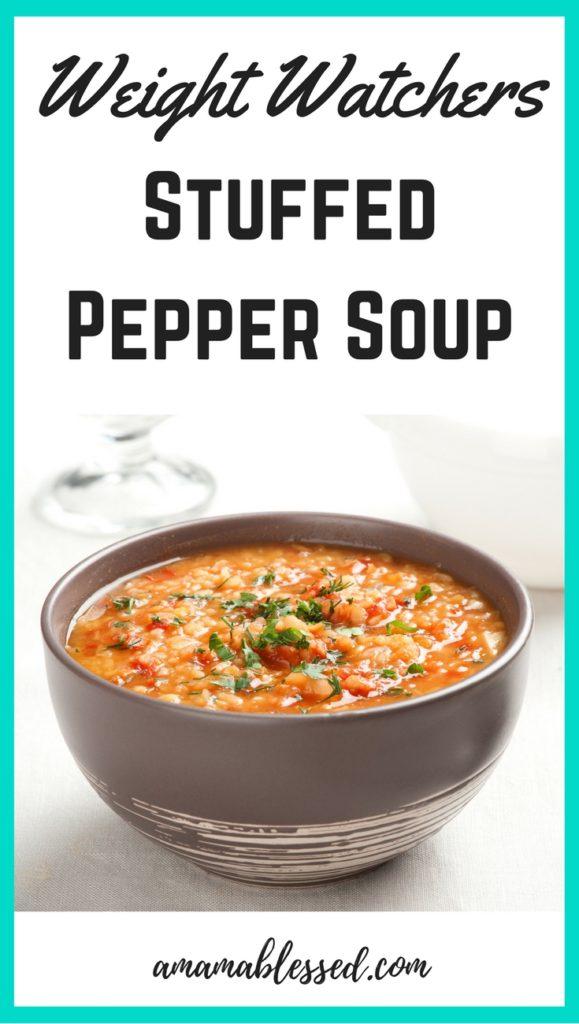 Weight Watchers Slow Cooker Stuffed Pepper Soup